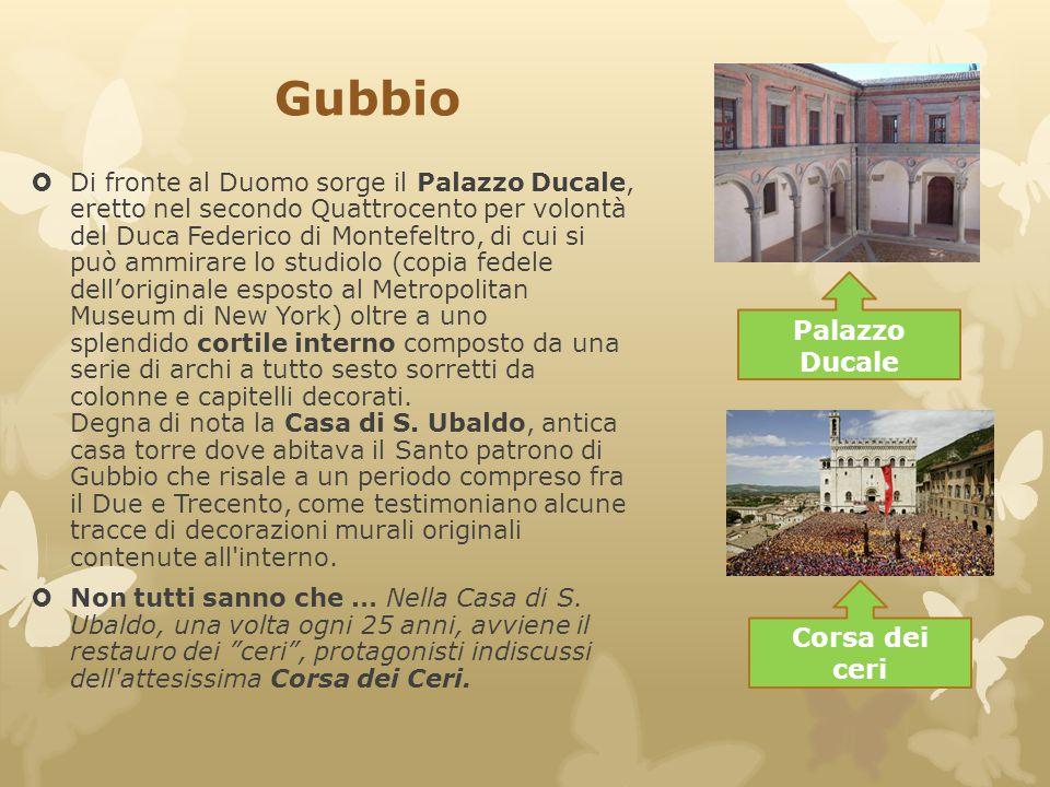 Gubbio Palazzo Ducale Corsa dei ceri