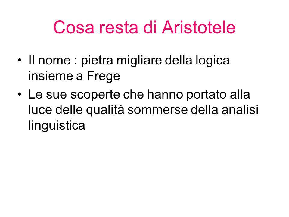 Cosa resta di Aristotele
