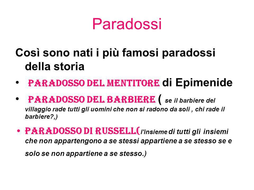 Paradossi Così sono nati i più famosi paradossi della storia