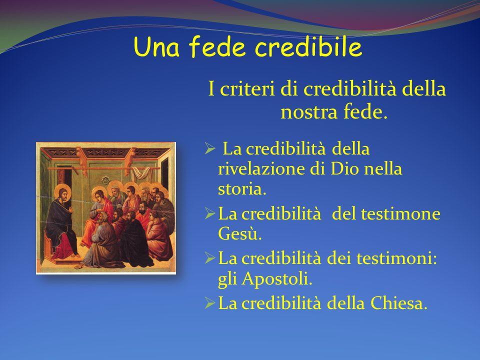 I criteri di credibilità della nostra fede.