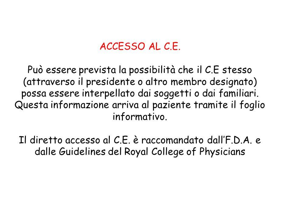 ACCESSO AL C.E.