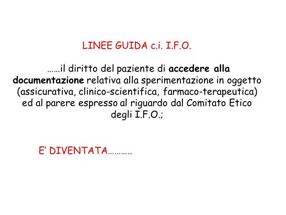 LINEE GUIDA c.i. I.F.O.