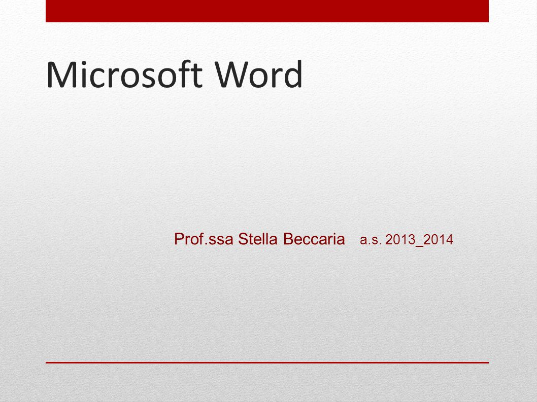 Prof.ssa Stella Beccaria a.s. 2013_2014