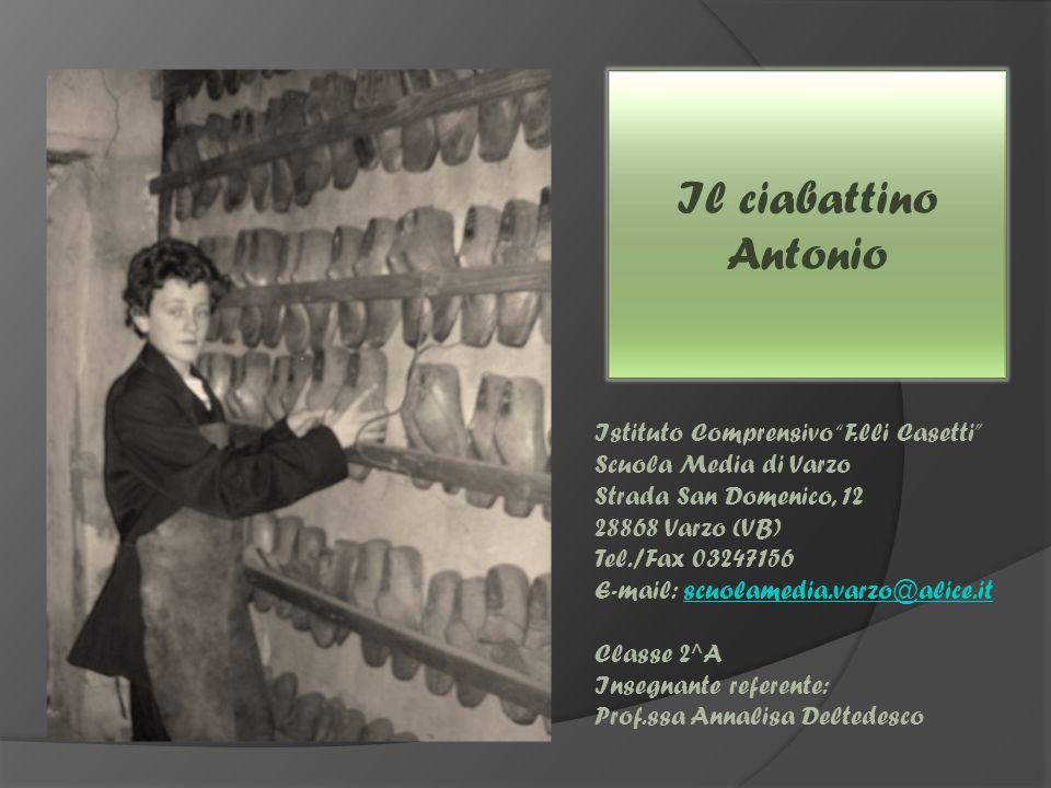 Il ciabattino Antonio Istituto Comprensivo F.lli Casetti