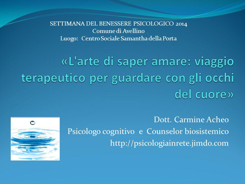 SETTIMANA DEL BENESSERE PSICOLOGICO 2014