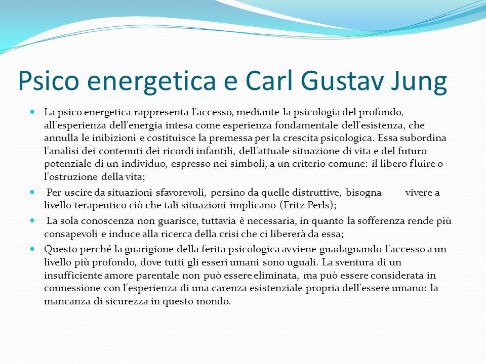 Psico energetica e Carl Gustav Jung