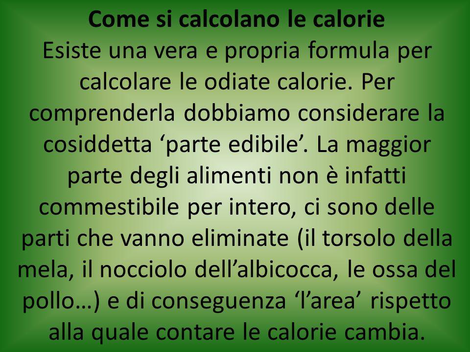 Come si calcolano le calorie