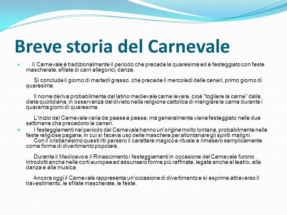 Breve storia del Carnevale