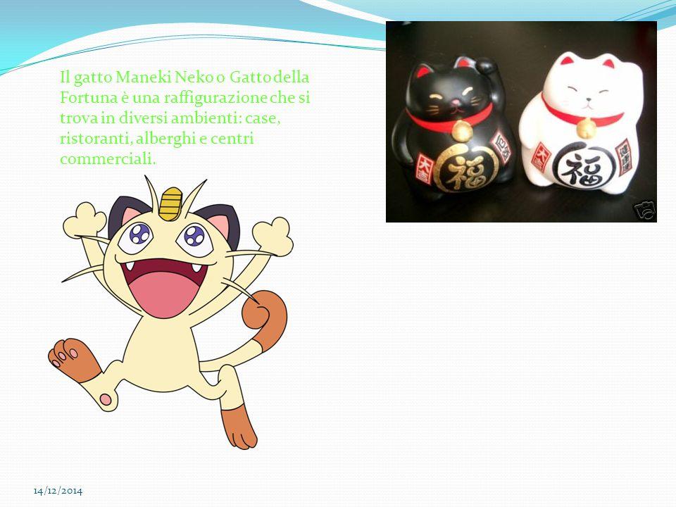 Il gatto Maneki Neko o Gatto della Fortuna è una raffigurazione che si trova in diversi ambienti: case, ristoranti, alberghi e centri commerciali.