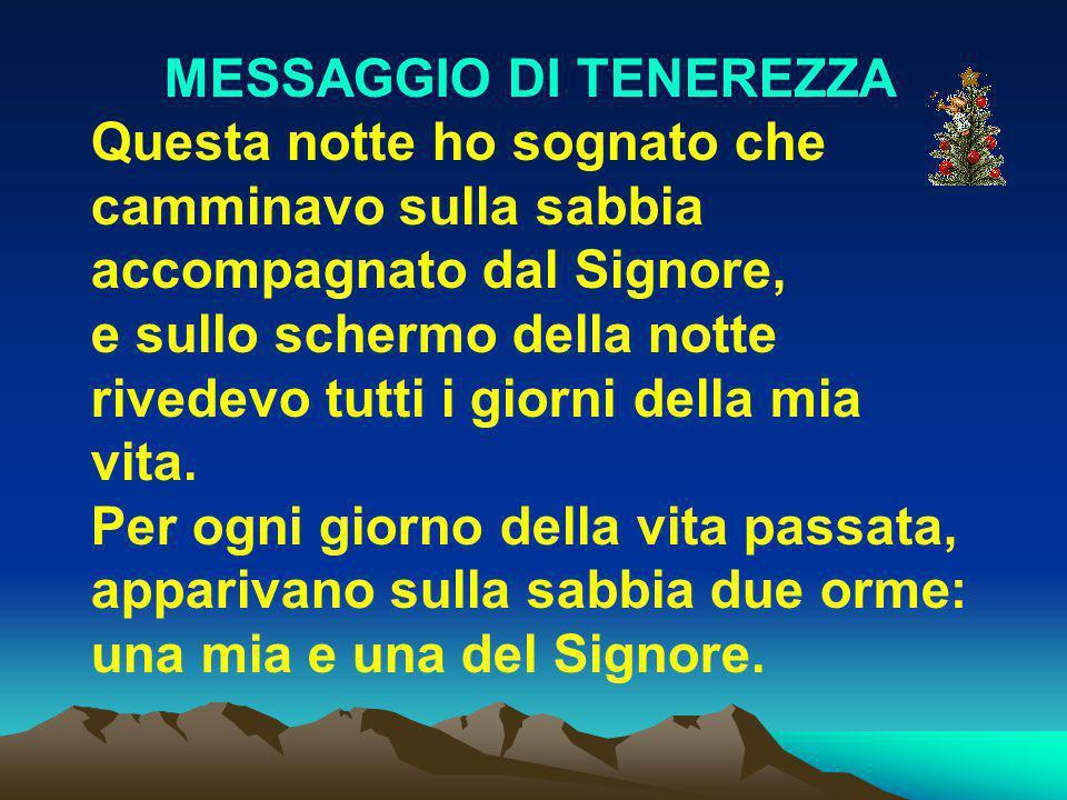 MESSAGGIO DI TENEREZZA