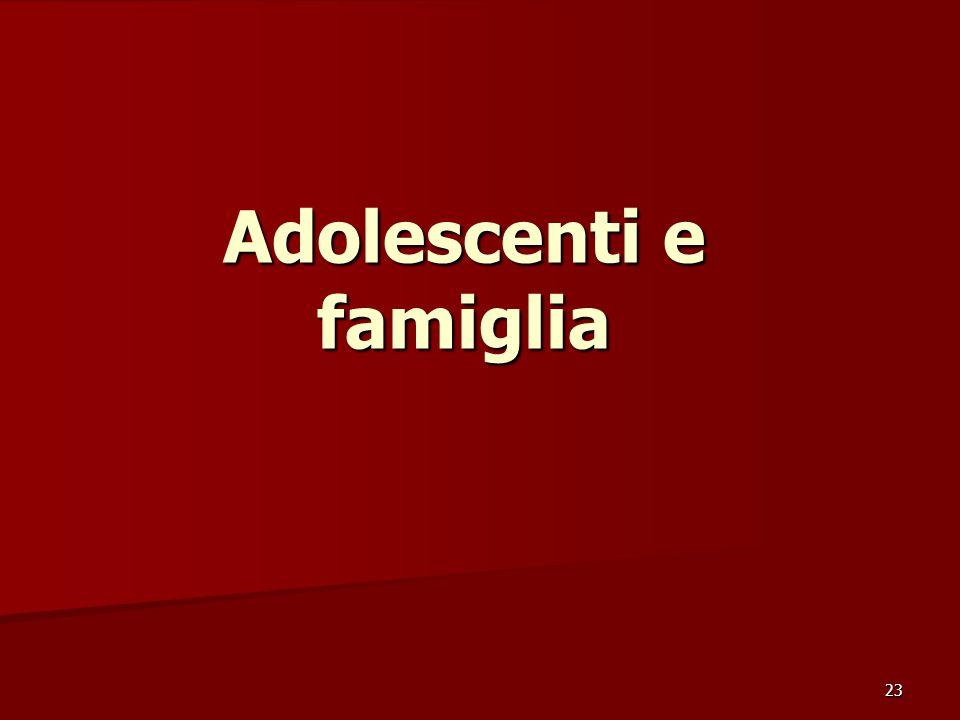 Adolescenti e famiglia