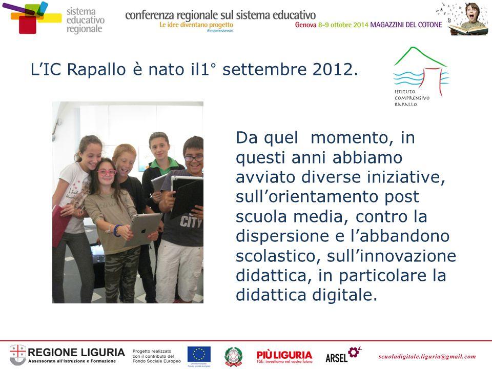 L'IC Rapallo è nato il1° settembre 2012.