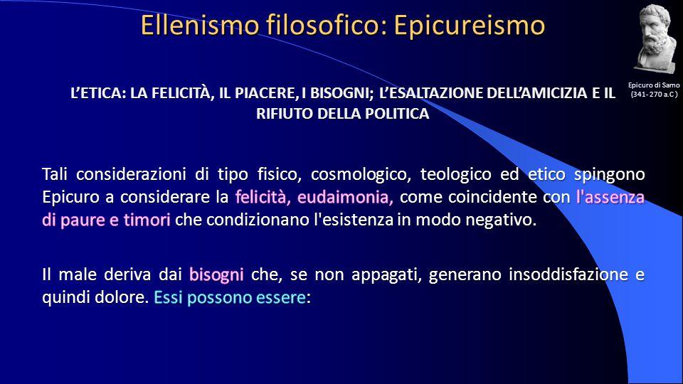 Ellenismo filosofico: Epicureismo