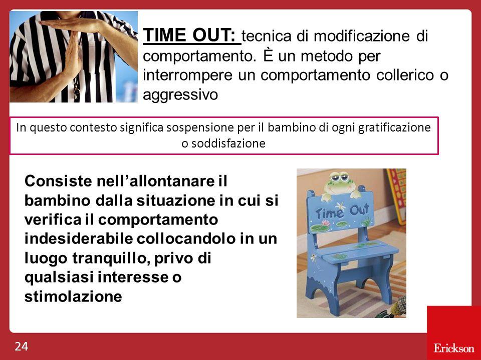 TIME OUT: tecnica di modificazione di comportamento