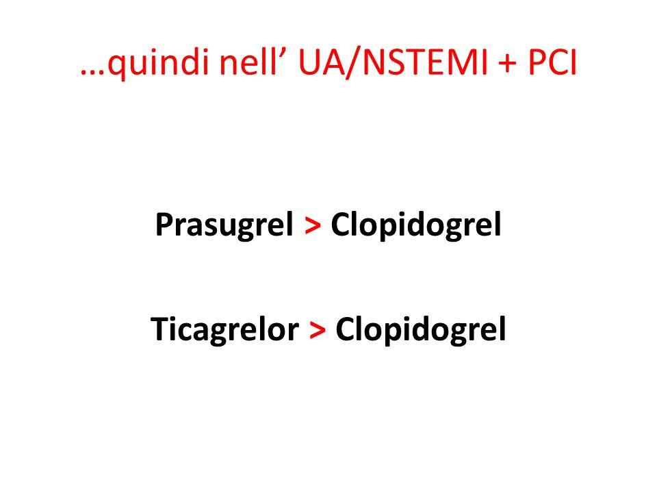 …quindi nell' UA/NSTEMI + PCI