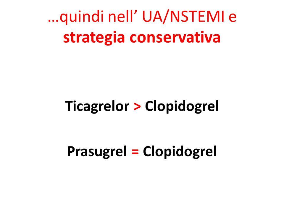 …quindi nell' UA/NSTEMI e strategia conservativa