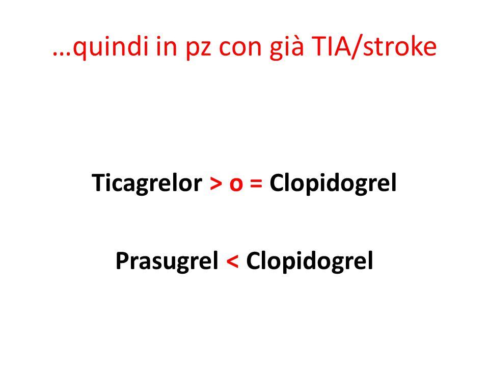 …quindi in pz con già TIA/stroke