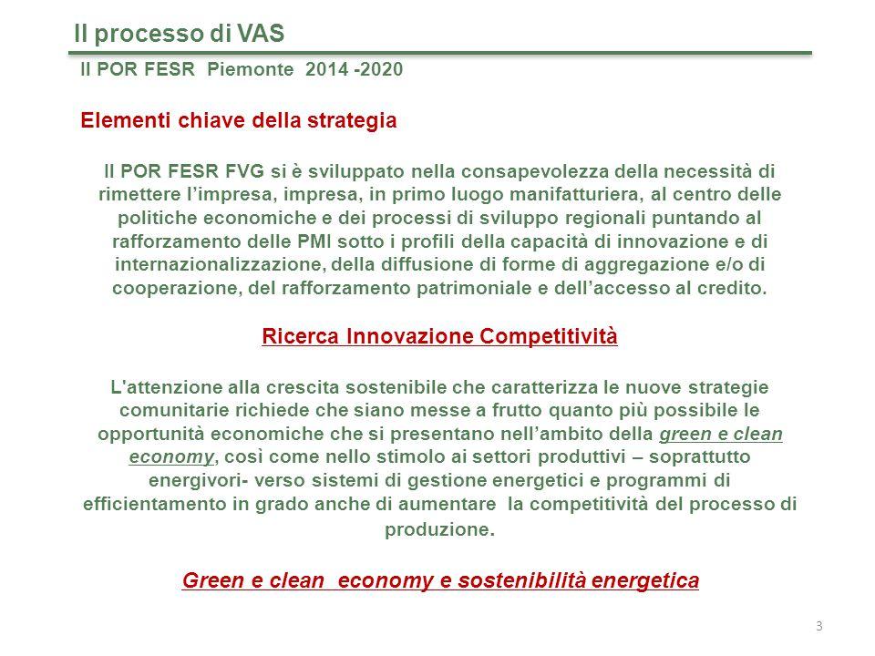 Il processo di VAS Elementi chiave della strategia
