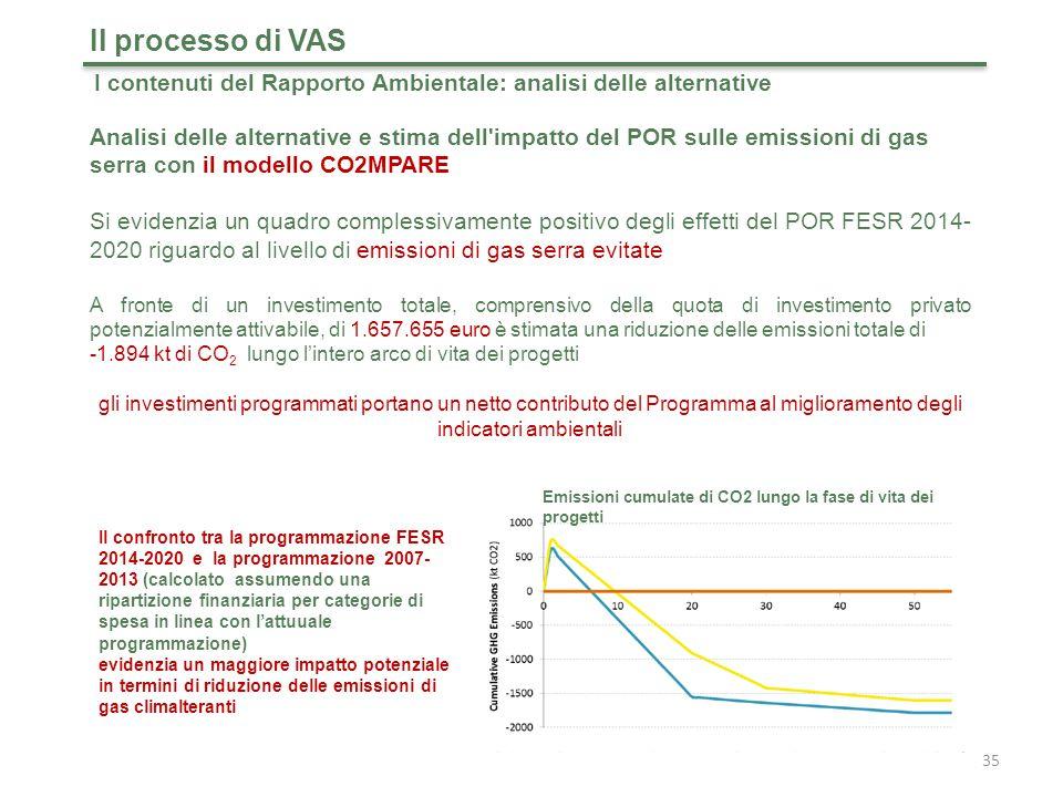 Il processo di VAS I contenuti del Rapporto Ambientale: analisi delle alternative.