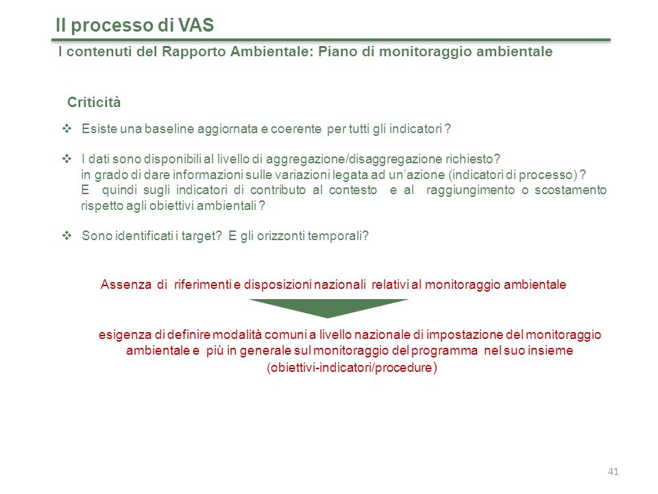 (obiettivi-indicatori/procedure)