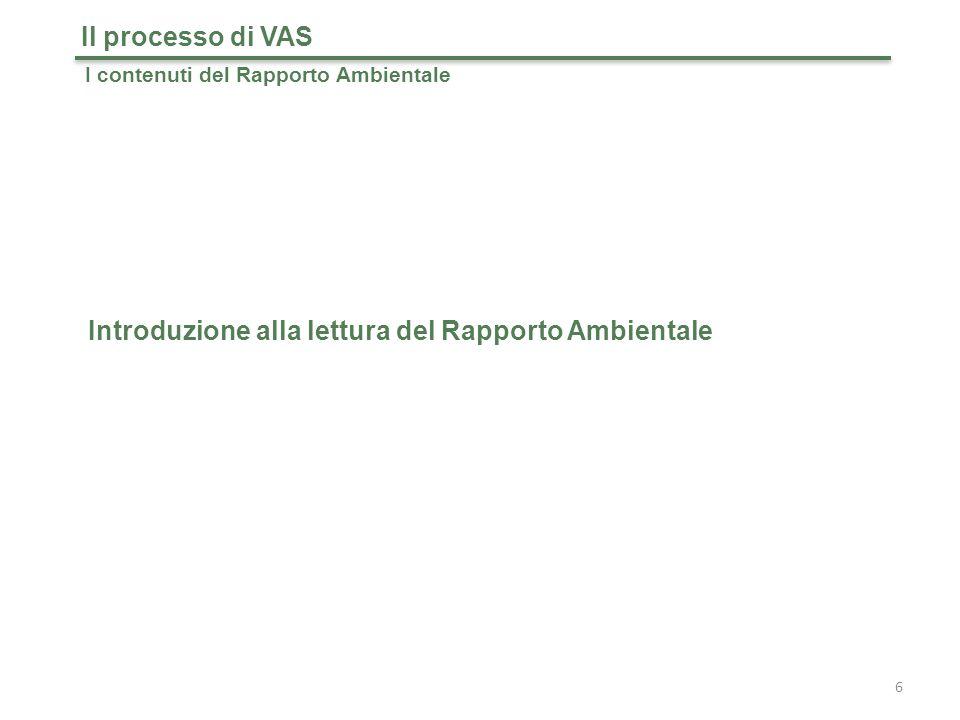 Introduzione alla lettura del Rapporto Ambientale