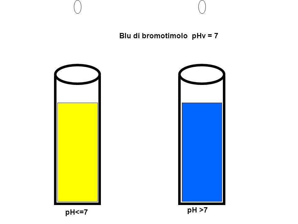Blu di bromotimolo pHv = 7