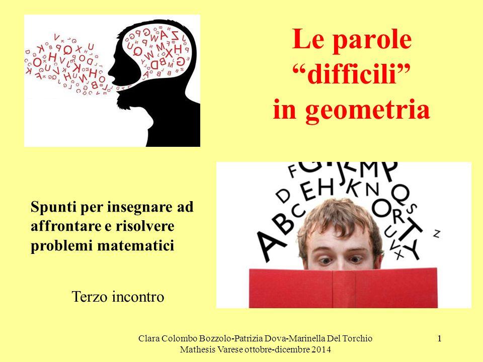 Le parole difficili in geometria