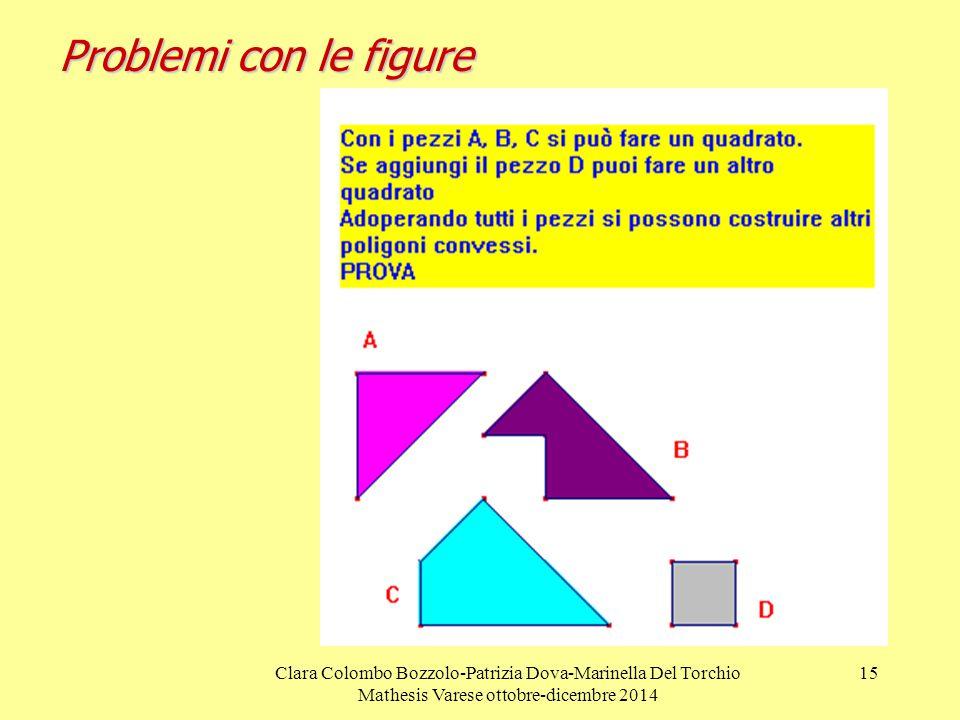 Problemi con le figure Clara Colombo Bozzolo-Patrizia Dova-Marinella Del Torchio Mathesis Varese ottobre-dicembre 2014.