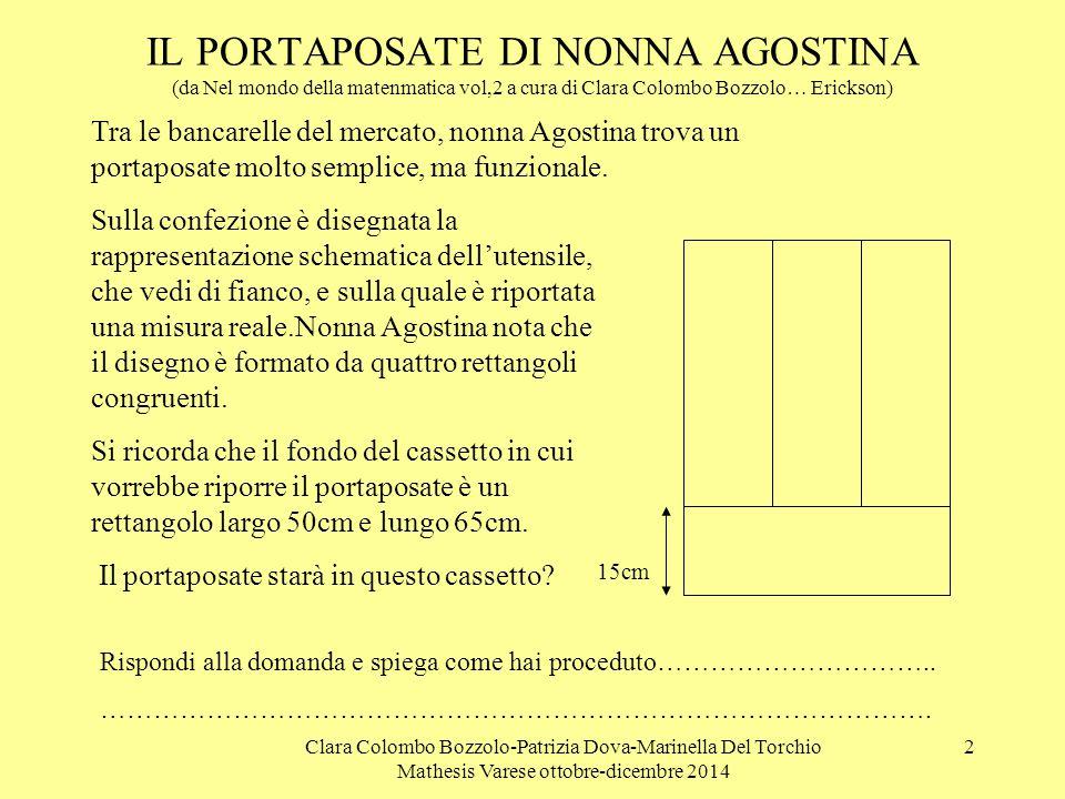 IL PORTAPOSATE DI NONNA AGOSTINA (da Nel mondo della matenmatica vol,2 a cura di Clara Colombo Bozzolo… Erickson)