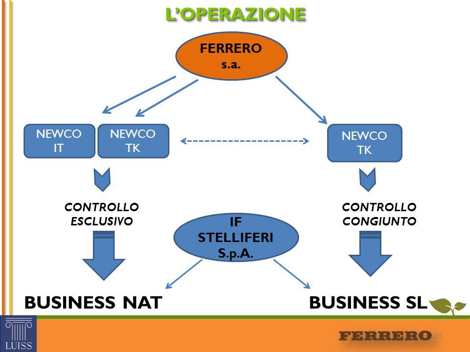 L'OPERAZIONE BUSINESS NAT BUSINESS SL