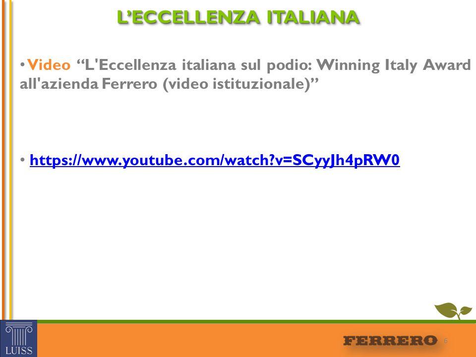L'ECCELLENZA ITALIANA