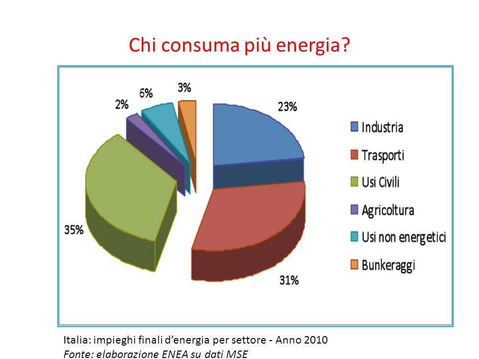 Chi consuma più energia