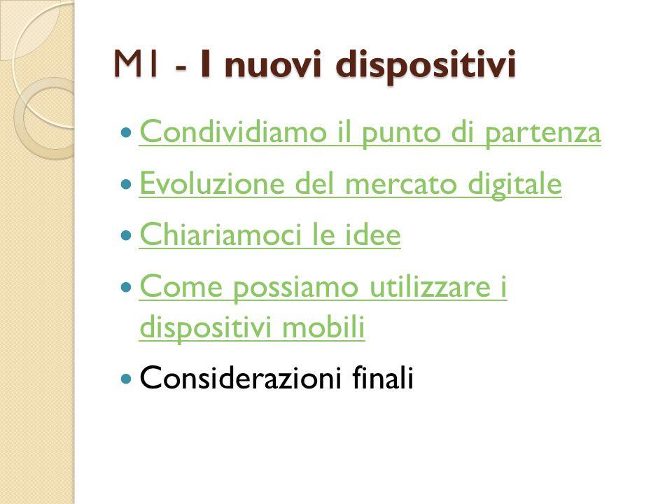 M1 - I nuovi dispositivi Condividiamo il punto di partenza