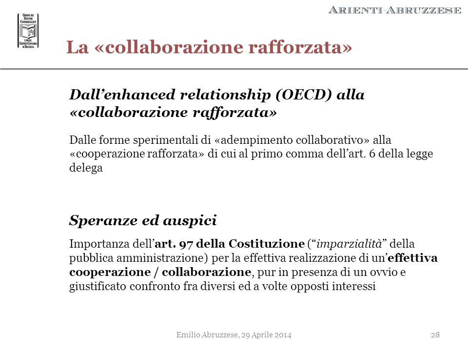 La «collaborazione rafforzata»