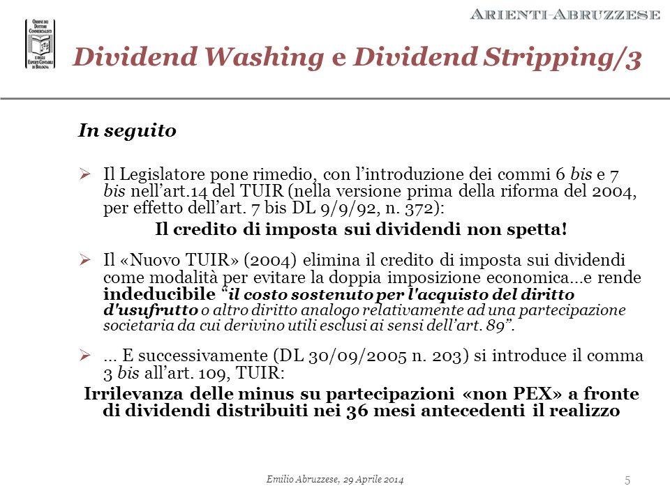 Il credito di imposta sui dividendi non spetta!