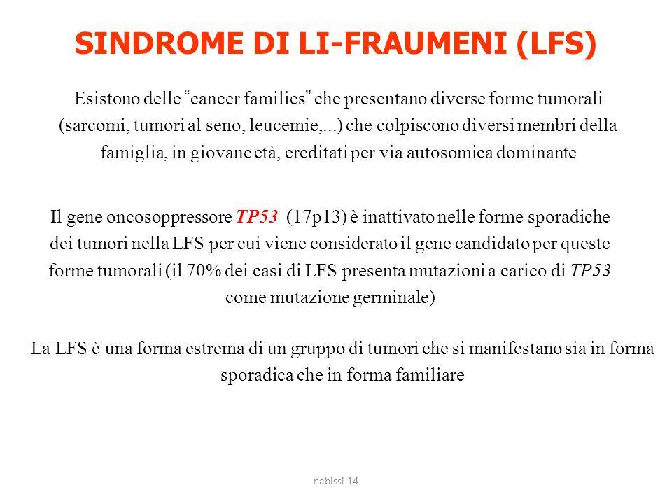 SINDROME DI LI-FRAUMENI (LFS)