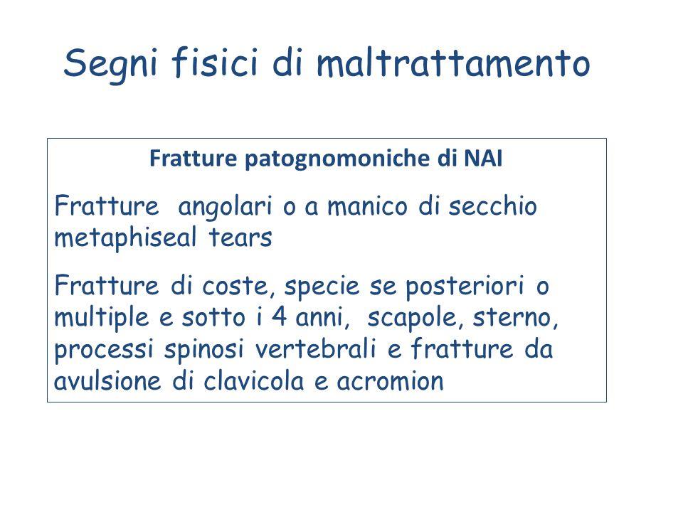 Fratture patognomoniche di NAI