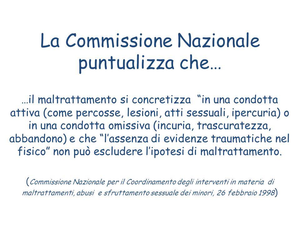 La Commissione Nazionale puntualizza che…