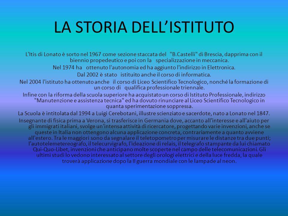 LA STORIA DELL'ISTITUTO