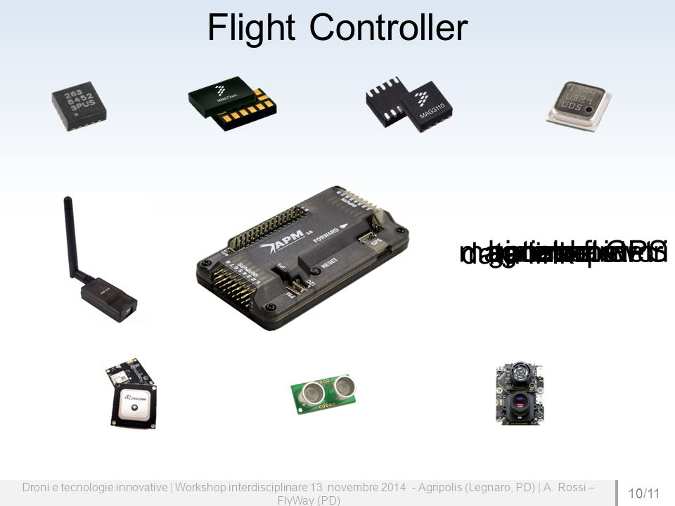 Flight Controller magnetometro data link sonar optical flow