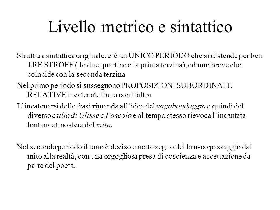 Livello metrico e sintattico