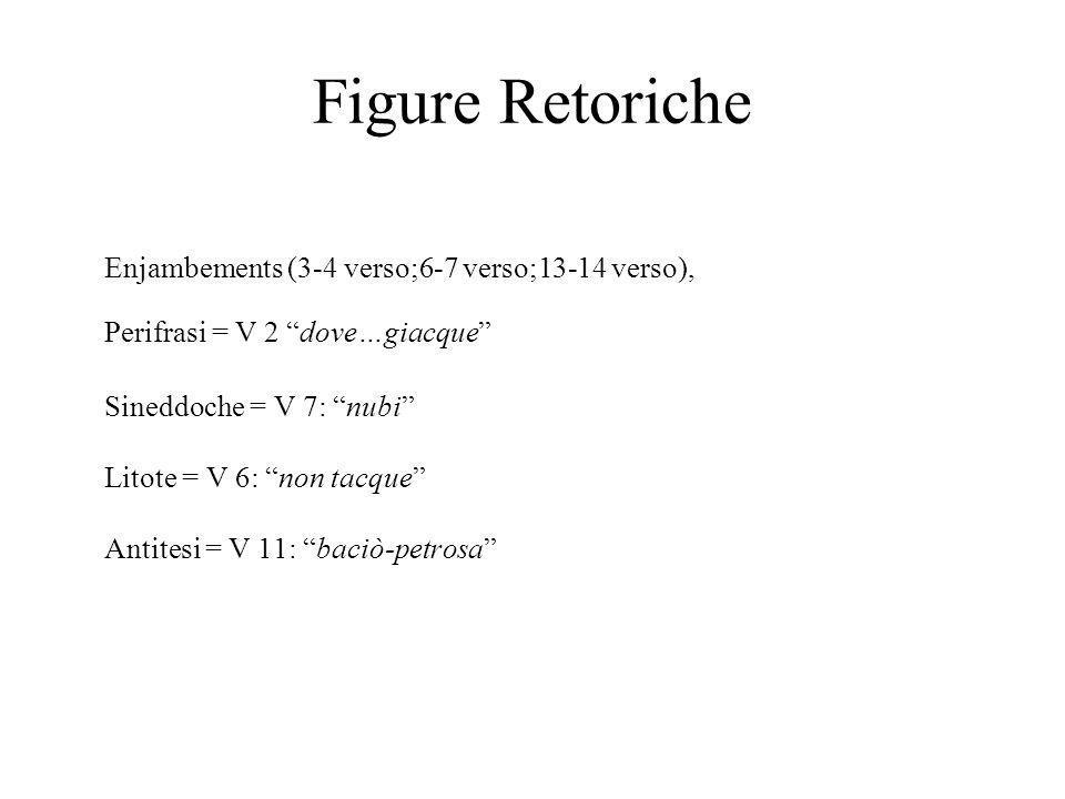 Figure Retoriche Enjambements (3-4 verso;6-7 verso;13-14 verso),
