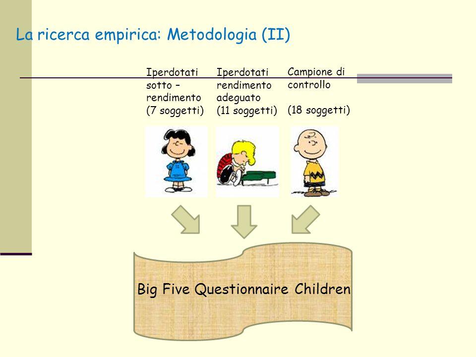 La ricerca empirica: Metodologia (II)