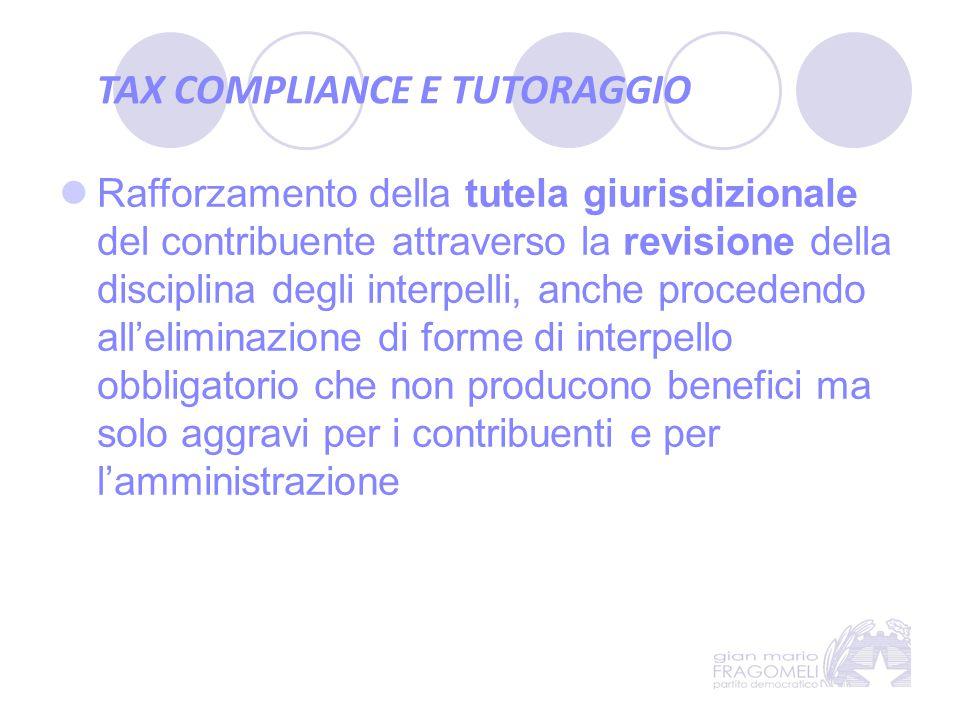 TAX COMPLIANCE E TUTORAGGIO