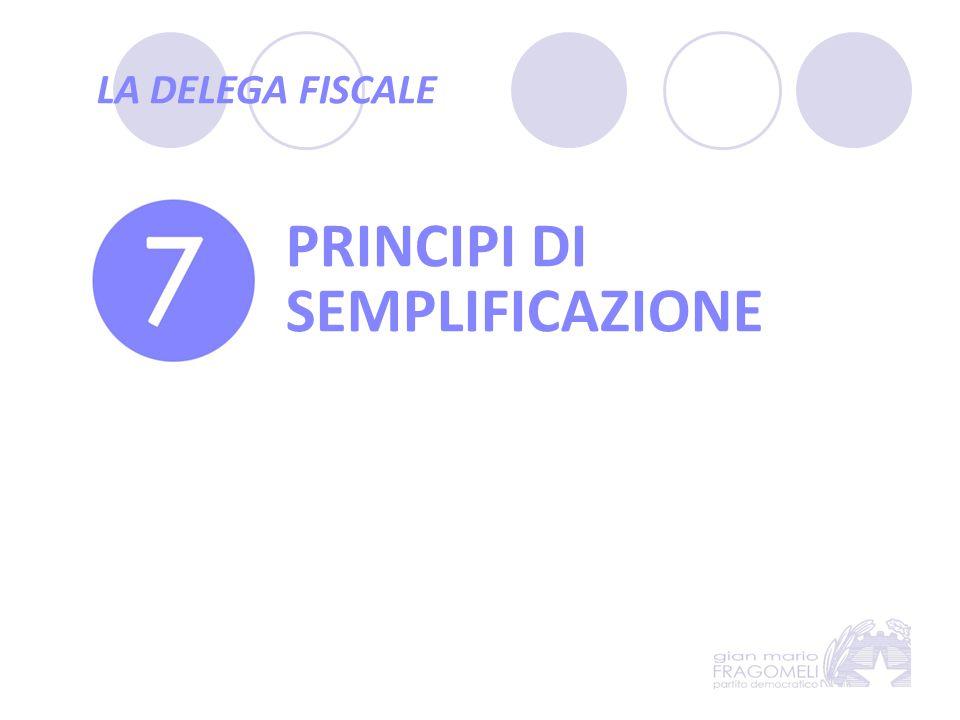 PRINCIPI DI SEMPLIFICAZIONE