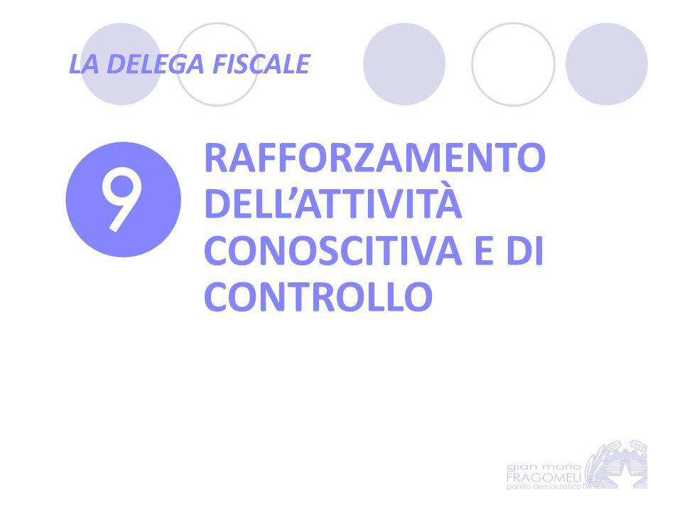 RAFFORZAMENTO DELL'ATTIVITÀ CONOSCITIVA E DI CONTROLLO