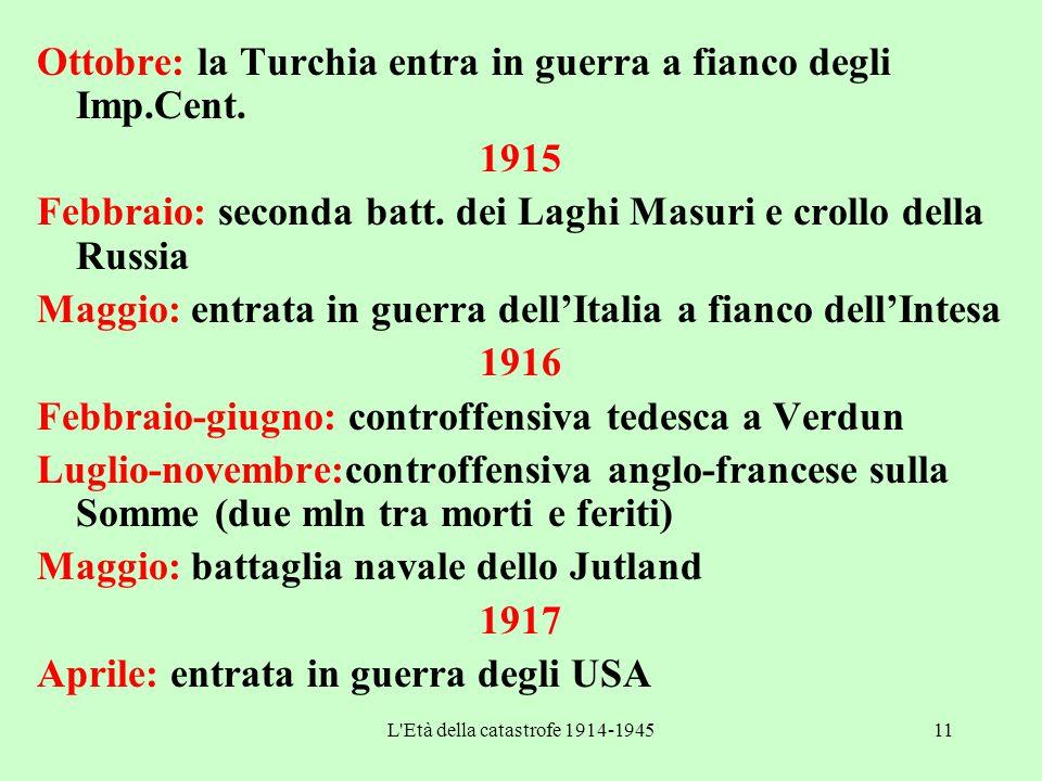 L Età della catastrofe 1914-1945
