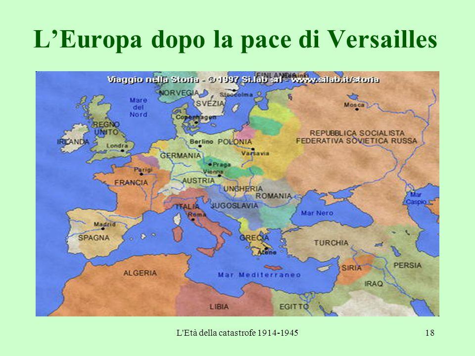 L'Europa dopo la pace di Versailles