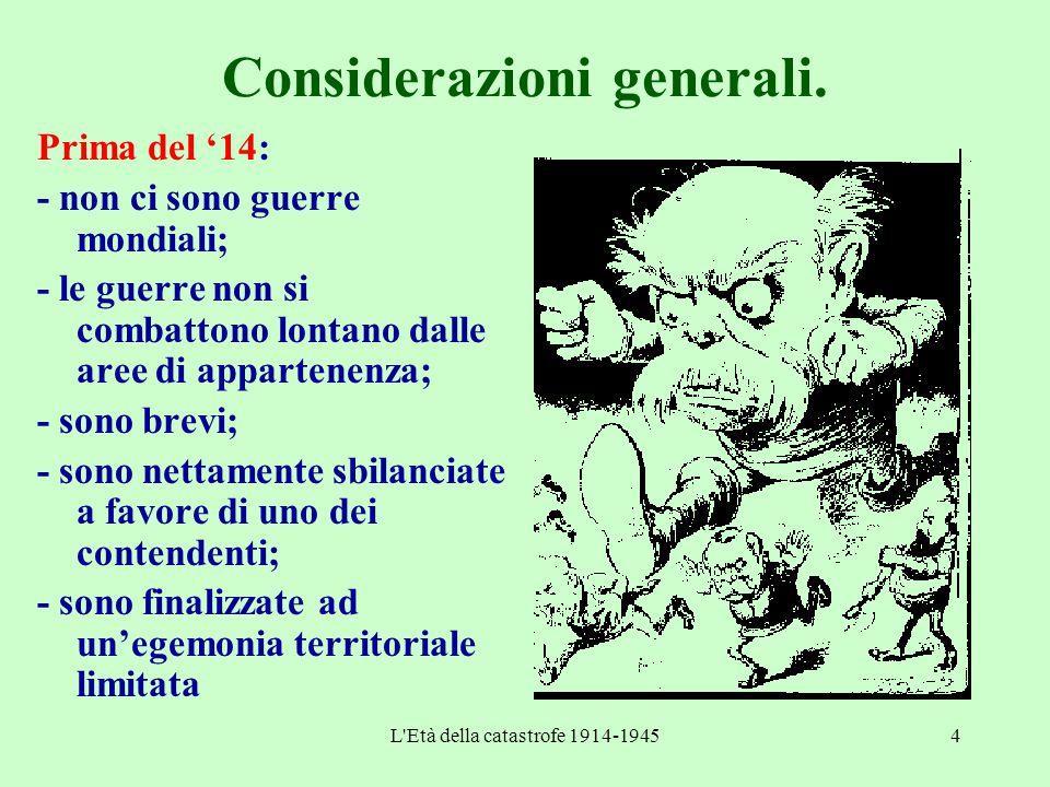 Considerazioni generali.