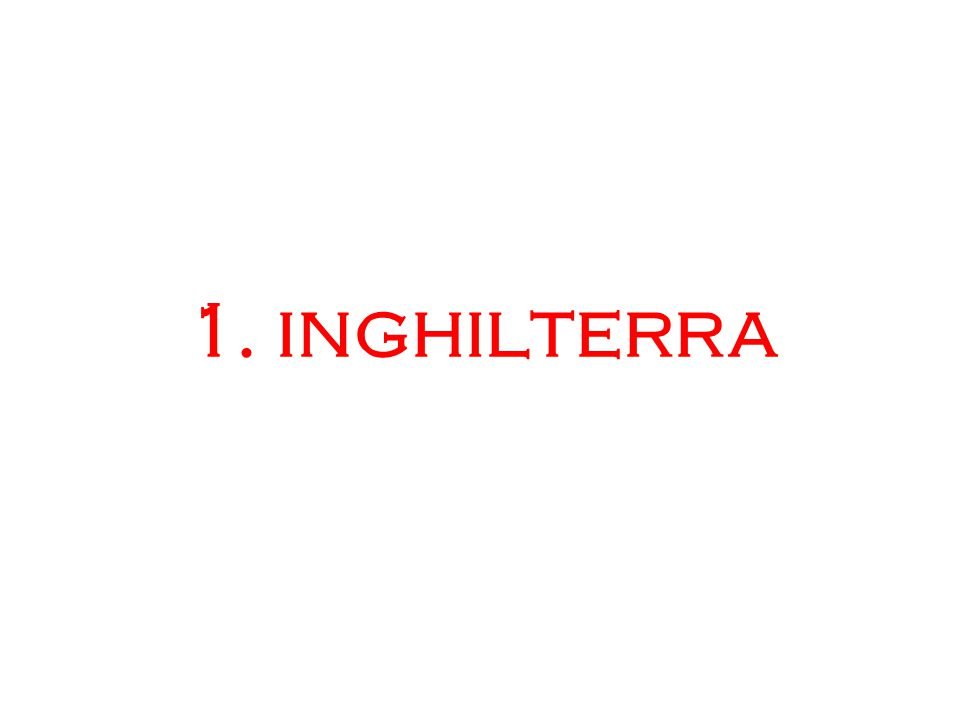 1. inghilterra